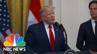 Trump Announces Downing Of 'Provocative And Hostile' Iranian Drone In Strait Of Hormuz   NBC News