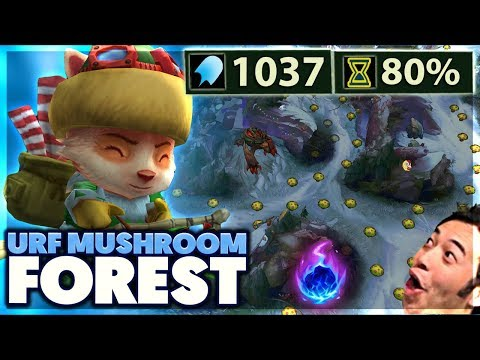 1 SECOND MUSHROOM COOLDOWN | ACCROSS THE MAP COMETS | 1,000 AP URF TEEMO - BunnyFuFuu