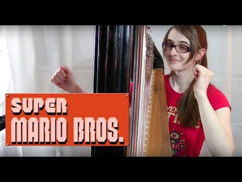 Super Mario Bros. Main Theme - Harp Cover | Samantha Ballard