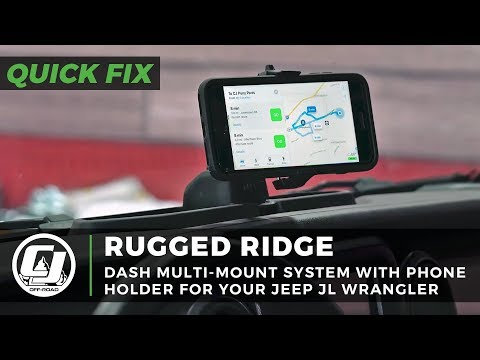 Jeep JL Wrangler Install: Rugged Ridge Dash Multi-Mount System With A Phone Holder