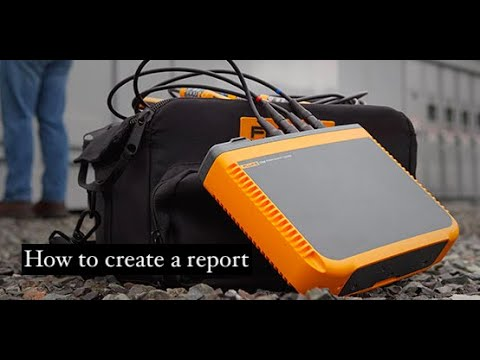 How To Create A Report With Fluke Energy Analyze Plus Software Youtube
