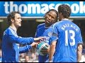 Ballack and Drogba fight over free kick