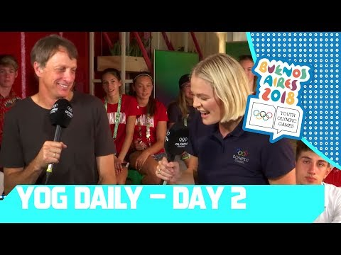 Skateboard Legend Tony Hawk Joins YOG Daily Show | Day 2 | YOG Buenos Aires 2018