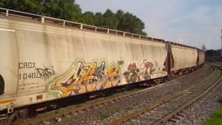 Ferromex SD70ACe 4018 granolero pasando por las Juntas Tlaquepaque Jalisco