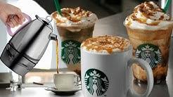 COPYCAT STARBUCKS Caramel Macchiato Hot & Cold Recipes | Feat. MINOS Moka Pot Espresso Maker