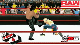 Top 5 RAW Moments-Recreation WWE 2K18 PSP | RAW 19 FEB | BK WWE