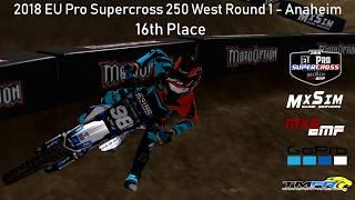 MX Simulator | 2018 EU PRO Supercross Round 1 | On Board