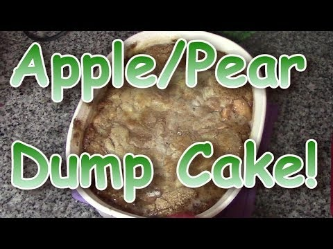 Apple Pear Dump Cake!!