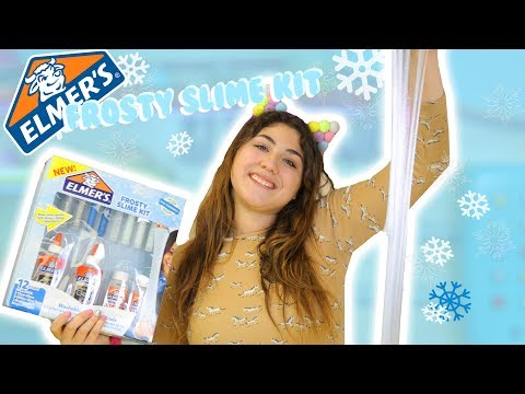 ELMERS SLIME KIT   FROST SLIME KIT REVIEW   Tying out Elmers recipes   Slimeatory #171