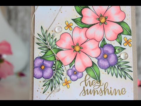 Floral Card colored