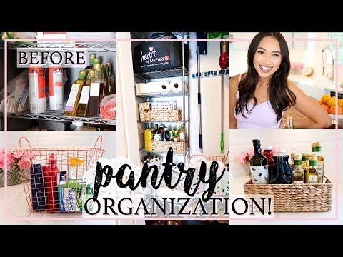 PANTRY ORGANIZE WITH ME! QUICK TIPS AND IDEAS | Alexandra Beuter
