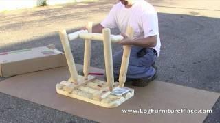 Assembly: Rustic Natural Cedar Log End Table | Cedar Looks Rustic End Table
