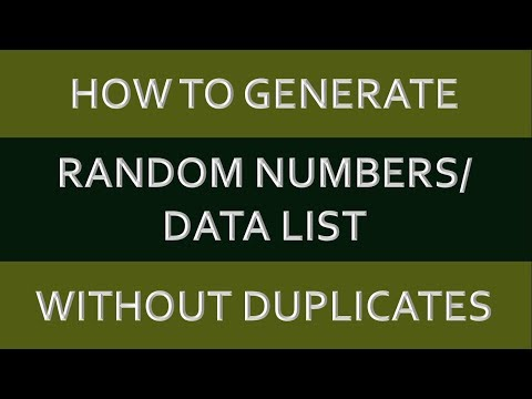 ExcelLearn !! How to Generate Random Numbers/Data List without duplicate + Sampling In Excel Hindi!!