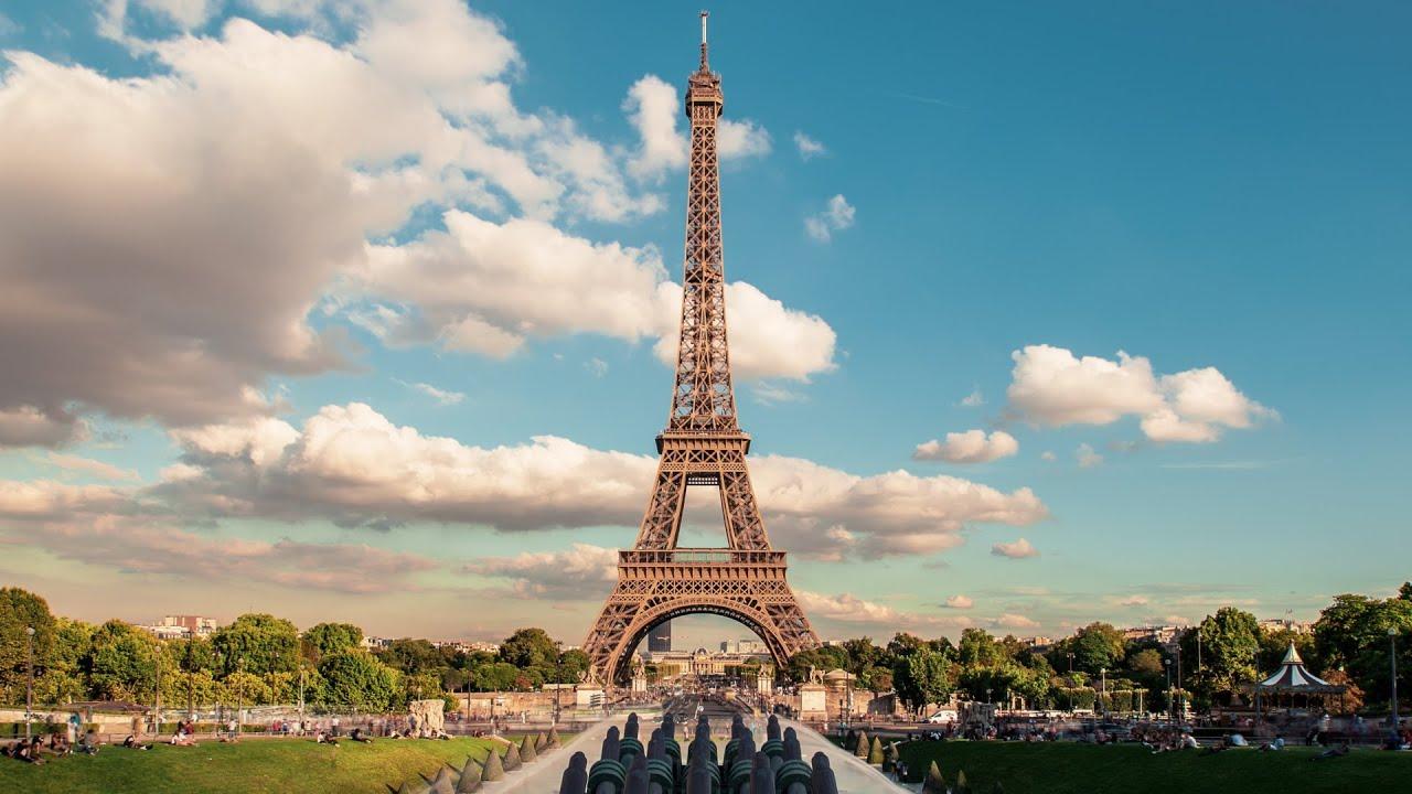 eiffel tower timelapse trocadero paris royalty free footage youtube. Black Bedroom Furniture Sets. Home Design Ideas