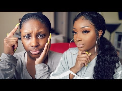 How to put Full Lace Wig in Ponytail WITHOUT Tape/Glue! | Makeupd0ll