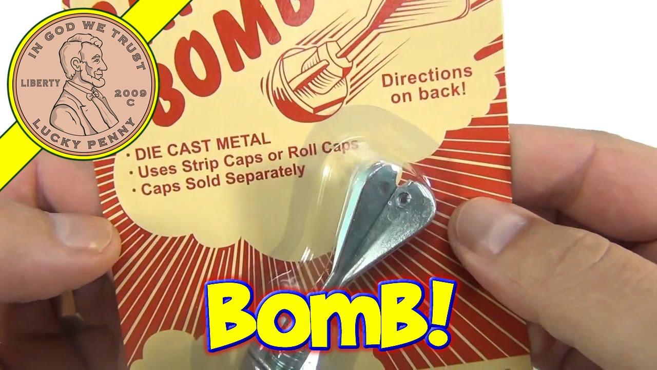 Classic Metal Cap Bomb Toy Uses Strip Caps Or Roll Caps