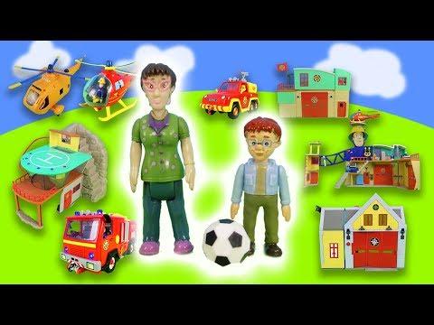 Feuerwehrmann Sam Rettungsstation, Feuerwehrzentrale & Feuerwehrautos | Spielzeug Unboxing