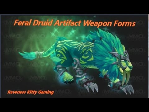 Legion Artifact Weapons Cat Forms - Raven's Comments - YouTube