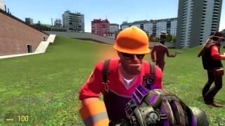 Обзоры Модов Garry s Mod 13. 20.Умные NPC из Team Fortress 2.Часть 1.Наемники