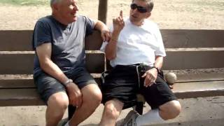 Two Octogenarians At The Park: