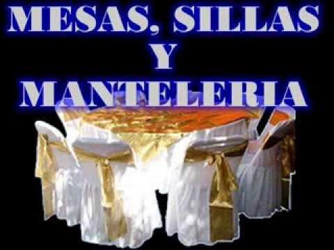 Renta De Mesas Y Sillas Youtube