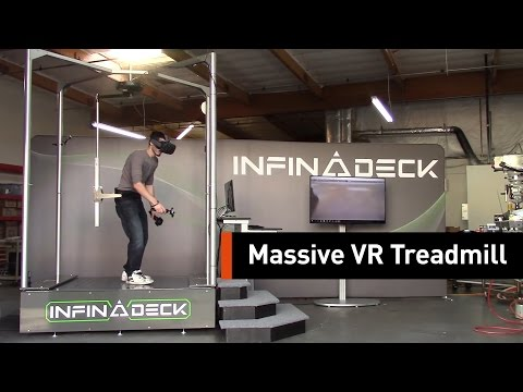 Walk In To Virtual Reality With This Omnidirectional Treadmill
