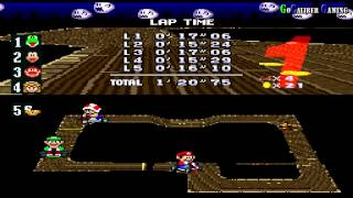 Super Mario Kart Walkthrough   Gameplay Part 1   100cc Mushroom Cup Yoshi