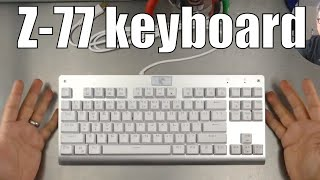 Mechanical Eagle Z-77 White TKL keyboard with non-removable switches
