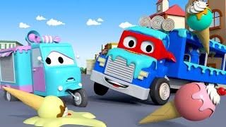 El Camión de Helados - Carl el Super Camión en Auto City | Dibujos animados para niños
