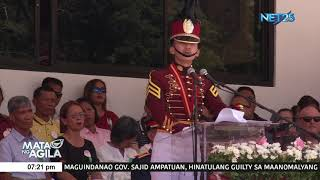 Class Valedictorian Ramos nagpasalamat kina PRRD, INC. Exec. Min. Bro. EVM