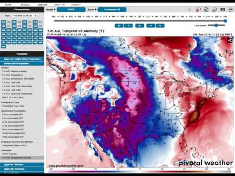 MAJOR Cold Blast + Winter Storm Headed To The U.S. 12-8-16