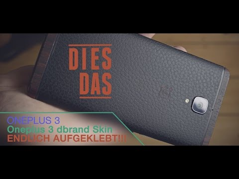 Oneplus3 dbrand Skin endlich aufgeklebt. Deutsch   German