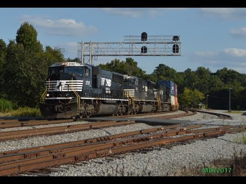 HD: Railfanning Norfolk Southern West GA/East AL & Atlanta Area 9/8/2017