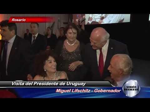 PRESIDENTE DE URUGUAY VISITA SANTA FE NOTICIERO VISIÓN REGIONAL CABLE VISIÓN