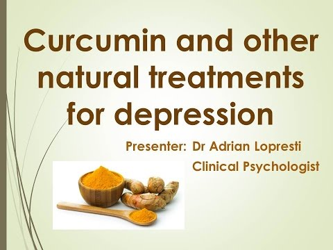 Curcumin and Other Natural Treatments for Depression presented by Dr. Adrian Lopresti- 10/16/2014