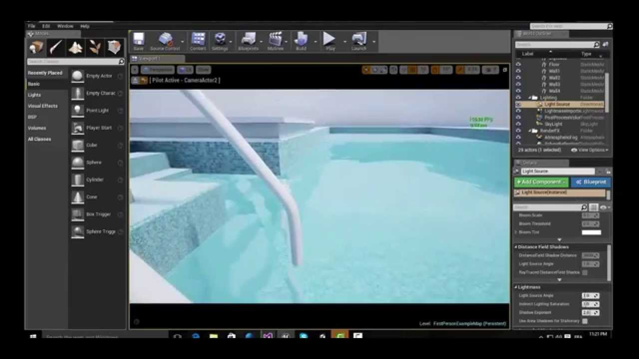 Swimming pool water unreal engine download link project for Show parameter pool