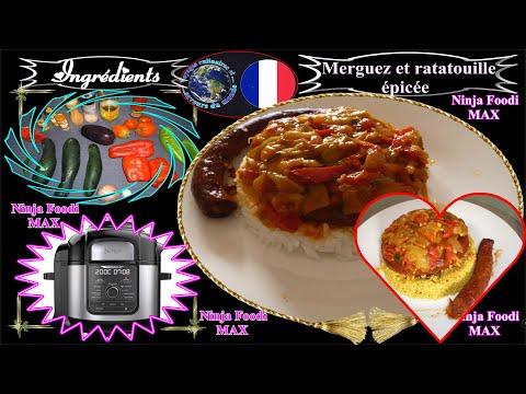 recette-pour-ninja-foodi-max-merguez-et-ratatouille-épicée