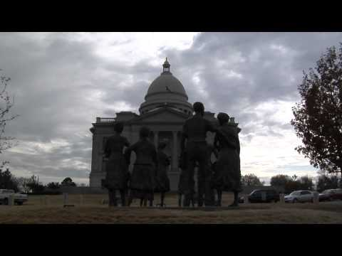 Little Rock Nine Monument on the grounds of the Arkansas State Capitol