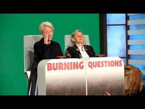 Emma Thompson Kinda Plays Burning Questions