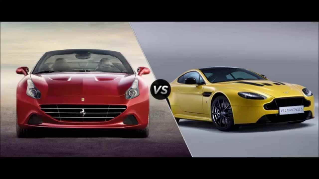 Ferrari California T Vs Aston Martin Comparison Youtube