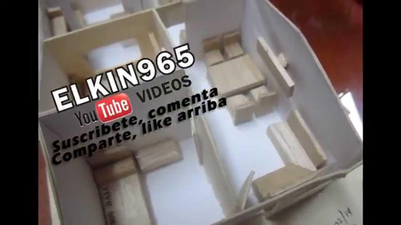 Maqueta de una casa cart npaja y balso youtube - Como hacer una maqueta de una casa ...