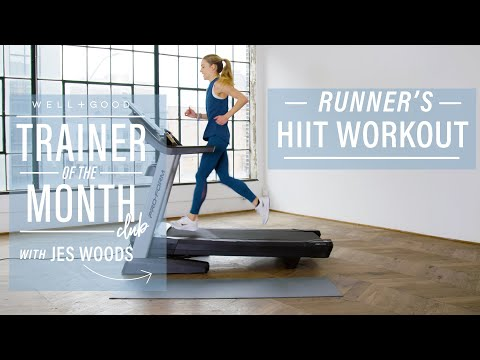15-Minute Runner's Treadmill HIIT Workout | Trainer of the Month Club | Well+Good