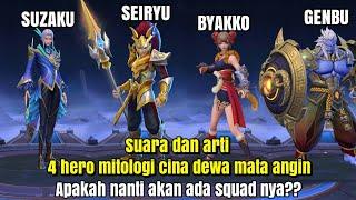 Suara dan arti 4 hero dewa mata angin mitologi cina~mobile legends