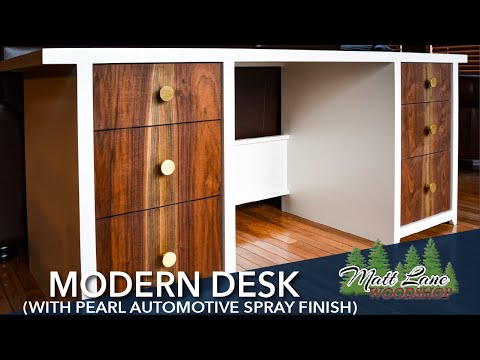 Modern Desk (with pearl automotive spray finish)