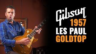 gibson les paul 1957 goldtop vintage guitar demo