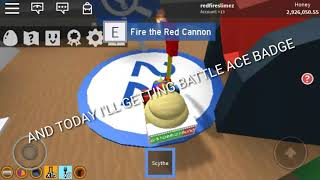 GETTING BATTLE ACE BADGE - (Roblox) Bee Swarm Sim