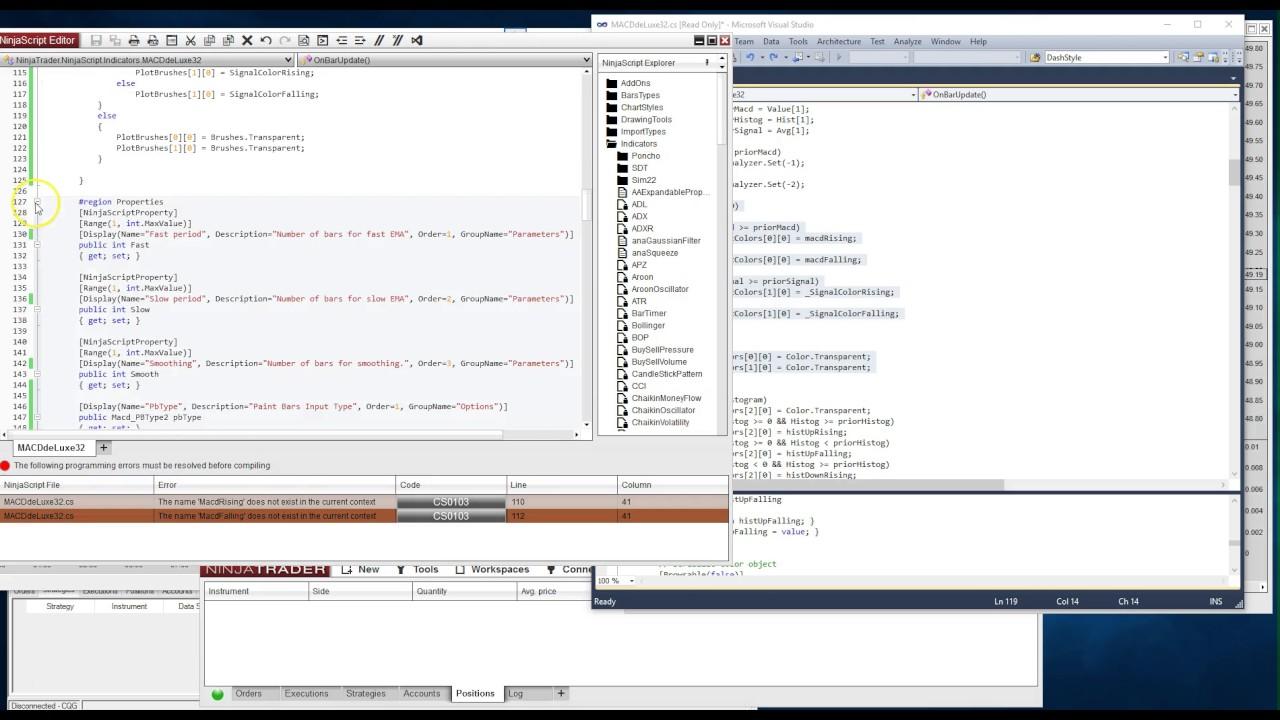 Converting Ninjatrader indicators from NT7 to NT8 Part III