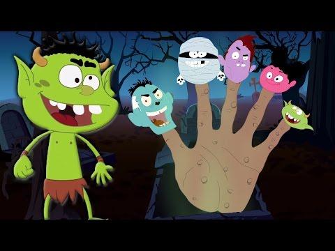 Monstruo dedo familia | canciones infantiles | Dedo canción | Scary Rhymes | Monster Finger Family