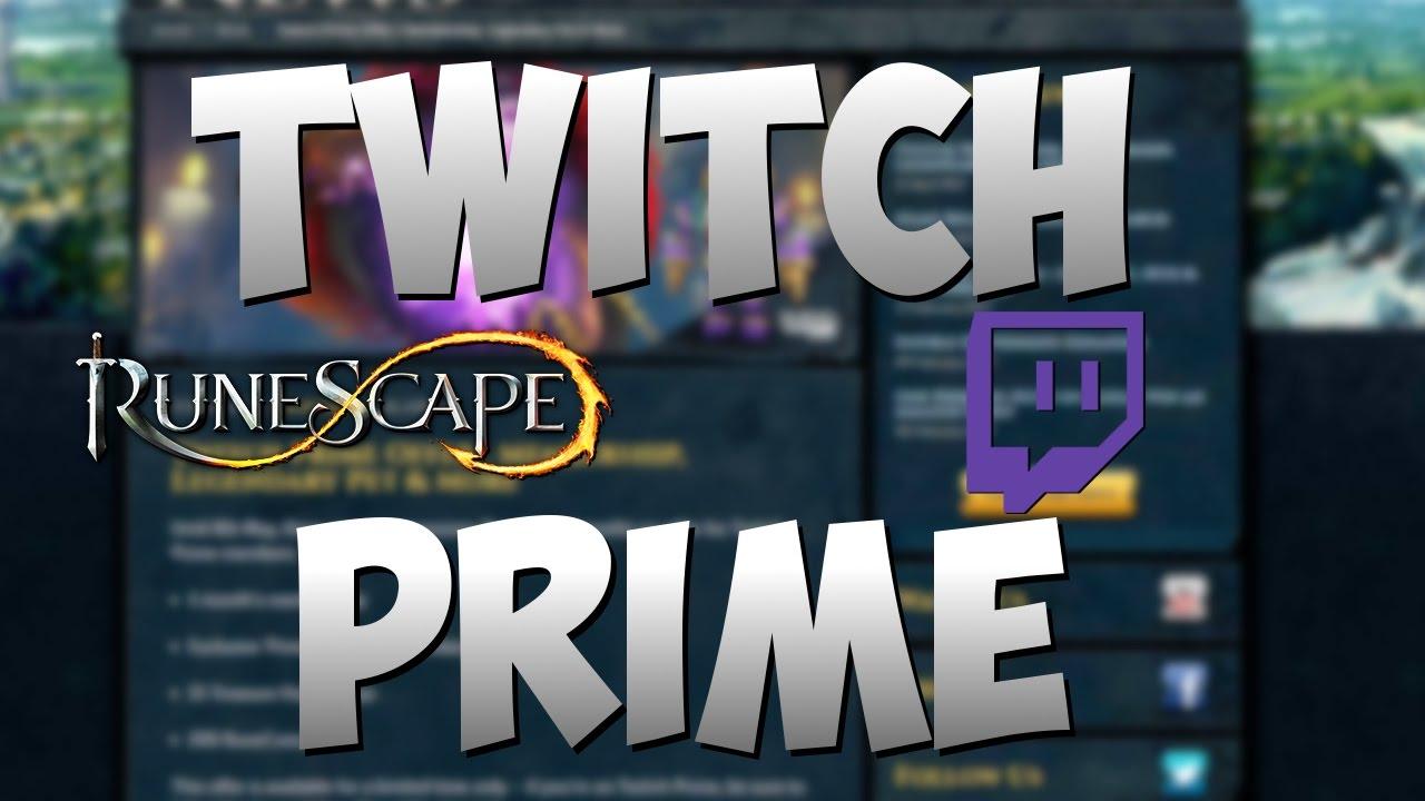 Runescape Twitch Prime Offer