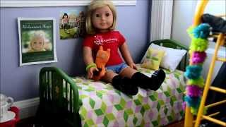 Opening American Girl Doll Kit's Bed And Quilt Set